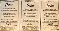 Oster Classic 76 Carbon Brush & Spring Assemblies 042584-025 3,Complete Sets USA
