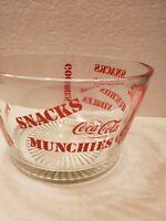 Vintage Coca Cola Glass Snack Bowl Dish Heavy