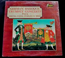 GERMAN BAROQUE TRUMPET CONCERTI, WORKS BY HERTEL/GASCH/STOELZEL/BIBER SEALED LP