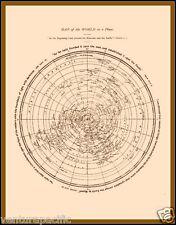 Map of the World as a Plane [Flat Earth]  :  David Wardlaw Scott  :  circa 1901