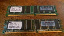 2x SAMSUNG M368L3223FTN-CCC (256 MB, PC3200 (DDR-400),, 400 MHz, DIMM