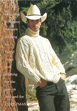 Gay Lesbian LGBT Holiday Cards G-Gallery Gay Hot Cowboy (The shade of it all)