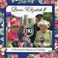 St Kitts 2017 MNH Queen Elizabeth II 90th Birthday 2v S/S I Royalty Stamps