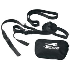 Arctic Cat Snowmobile Black Nylon Tow Strap with Storage Pouch - 4639-247