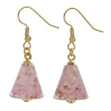 GlassOfVenice Murano Glass Starlight Cones Earrings - Carnation Pink