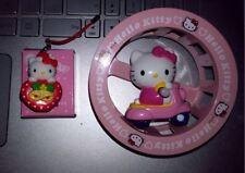 Sammlungsauflösung Hello Kitty Schlüsselanhänger beleuch. & drehb. Kitty im Rad!