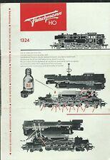 Fleischmann HO - Istruzioni manutenzione della Locomotiva 1324