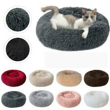 Pet Dog Cat Warm Plush kennel Calming Bed Round Nest Comfy Sleeping Cave Cushion