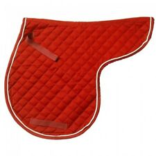 EquiRoyal Red Quilted Contour English Comfort Pad Horse Tack 30-990