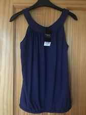 Next Outlet Women's Navy Blue Vest Top - Size 6 - Brand New with Tags