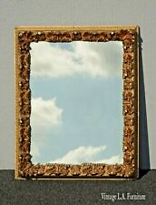 Vintage French Provincial Ornate Gold Wall Mantle Mirror AS IS