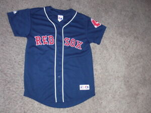 Boston Red Sox DAVID ORTIZ Big Papi sewn Baseball Jersey youth Large