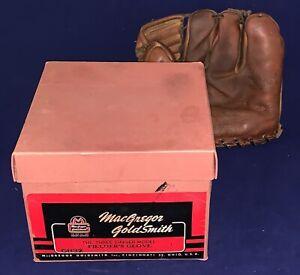Beautiful 1940's 3 Finger Macgregor Goldsmith Baseball Glove in Original Box