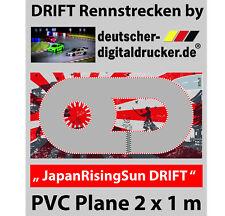 JapanSUN DRIFT Rennstrecke - RC Cars - Robuste Plane 4 farbig bedruckt - 2 x 1 m