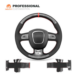Carbon Fiber Suede Car Steering Wheel Cover for Audi A3 A4 A5 A8 Q7 S4 S5 S6 S8