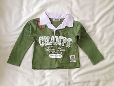 Boys Green Long Sleeved Polo Shirt - Size: 6-12 months