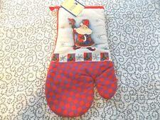 "Royal Norfolk Linens Christmas Oven Mitt ~ 13"" ~ Santa ~ New"
