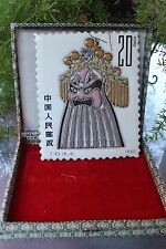 Chinese Peking Opera 京剧 Face Masks postal stamp ¥20, hand painted on porcelain