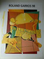 Hervé TELEMAQUE (1937) - Roland Garros 1998 - Farboffsetlithografie