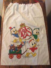 Vintage Disney Huey Dewey Lewey Ducks Drawstring Tidy / Bag
