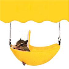 Hamster Yellow Banana Shape Hammock Small Pet Gerbil Rat Mouse Hanging Nest Uk