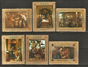 PORTUGAL - 1969/70 IANT Tuberculosis Charity - 6 Cinderellas Stamps - Paintings