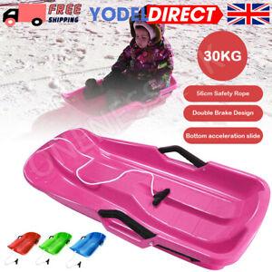 1 Piece Heavy Duty Kids Snow Sledge Toboggan Sleigh Pull Rope SKI Board Toys UK