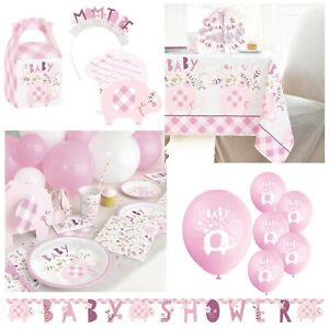 Floral Elephant Baby Shower, Pink Girls Party, Decorations, Tableware, Games