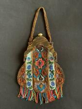 Large Art Deco Beaded Handbag With Celluloid Clasp