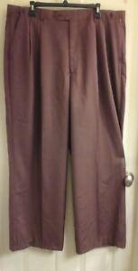 J. Anthony Brown, men's size 39-44X30 dress pants, wide leg, choc brown NWT