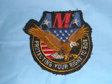 AMA Motorcycle Patch Right to Ride American Association Eagle USA Applique