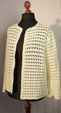 Chaqueta de punto crochet VINTAGE Landhaus década los 70 DDR hecho a mano