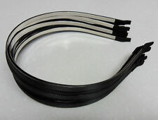 12 Wholesale lot satin metal 5mm head hair band