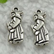 Free Ship 150 pcs  tibet silver angel charms 21x8mm #422