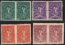 Salvador 1900 1, 10, 15 & 50¢ Ceres In Imperf Between Pairs