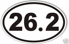 26.2 oval marathon sticker,decal, running, runner, 99 cents!