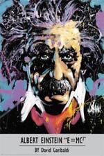 David Garibaldi Albert Einstein EMC2 Urban Graffiti Portrait Poster - 24x36