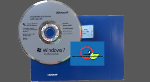 Windows 7 Pro Sp1 Format x2 DVD Certificate of Authenticity ✅ Tongue English