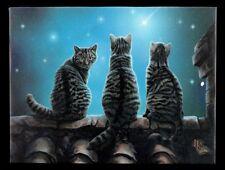 Kleine Leinwand mit Katzen - Wish upon a Star by Lisa Parker - Bild Druck Deko