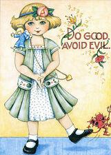 Do Good Avoid Evil Angel-Handcrafted Fridge Magnet-Using art by Mary Engelbreit