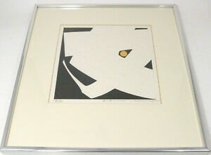 Haku Maki Signed Numbered Japanese Artist Woodblock Print 76-18 Woman Poem