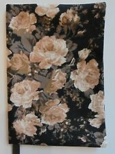 Fabric Paperback Book Cover Flower Fabric Brown Floral Print Fabric Beige Tan