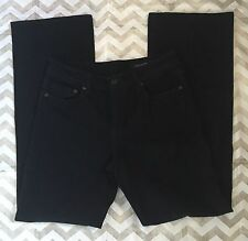 Seven 7 Womens Classic Flare Jeans Size 6 Dark Blue Black Pockets Stretch NWOT