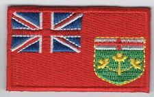 Ontario Provincial Flag Patch Embroidered Iron On Applique