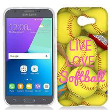 For Samsung J3 EMERGE Love Softball Case Skin Cover