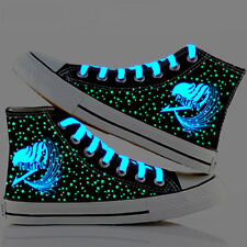 Anime Fairy Tail Guild Starry Luminous Skater Canvas Shoes High Top Sneaker Gift