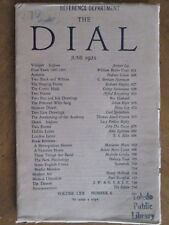 THE DIAL June 1921 WILLIAM BUTLER YEATS, T S Eliot GEORGE SANTAYANA