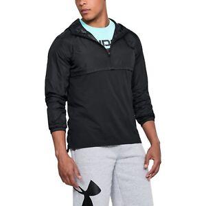 Under Armour Wind Jacket Men's 1/4 Zip Jacket Windbreaker Hoodie 1311107-002