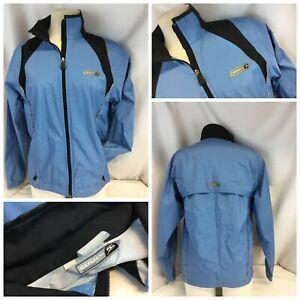 Sugoi Cycling Jacket M Women Light Blue Full Zip Waterproof Mint YGI H9-402
