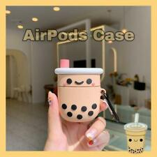Protective Earphone Case Cove Cute Boba Milk Silicone for Airpods New